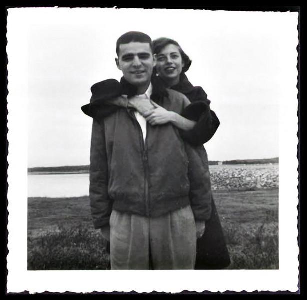 Affectionate Couple, c. 1950s. Gelatin Silver Print Snapshot